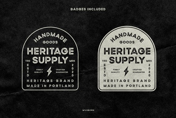 Wildborn Vintage Sans Typeface in Display Fonts - product preview 2
