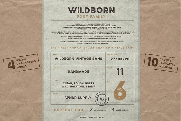 Wildborn Vintage Sans Typeface in Display Fonts - product preview 5