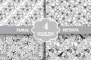 Cherry Blossom Seamless Patterns