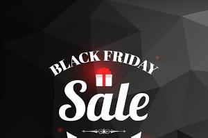 Black Friday Sale black background