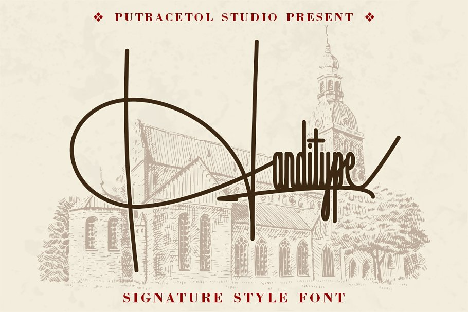 Handitype - Signature Style Font in Display Fonts - product preview 8