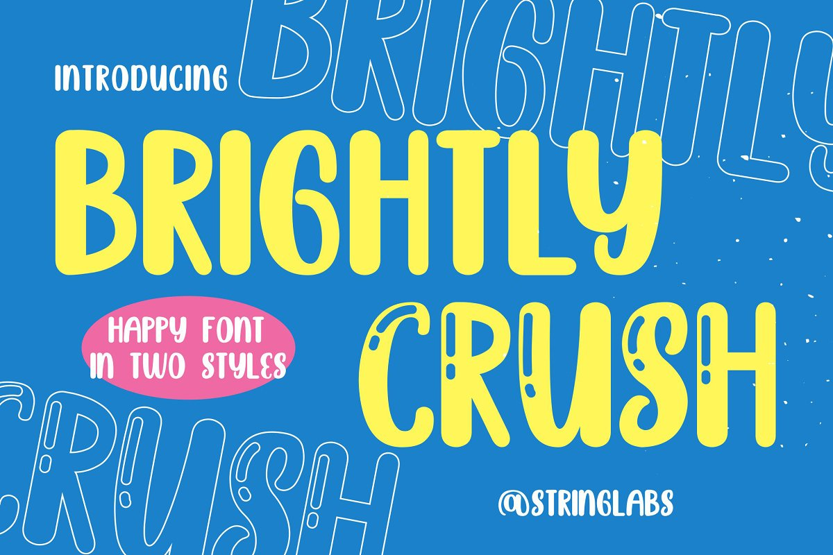 Brightly Crush - Playful Typeface in Display Fonts - product preview 8