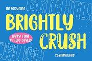 Brightly Crush - Playful Typeface