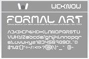 formal art font