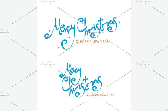 Christmass Sign Letters Set. Vector - Illustrations