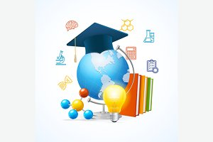 Education Sciense Concept. Vector