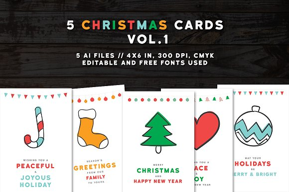 Christmas Greeting Cards 2016 vol.1 - Cards