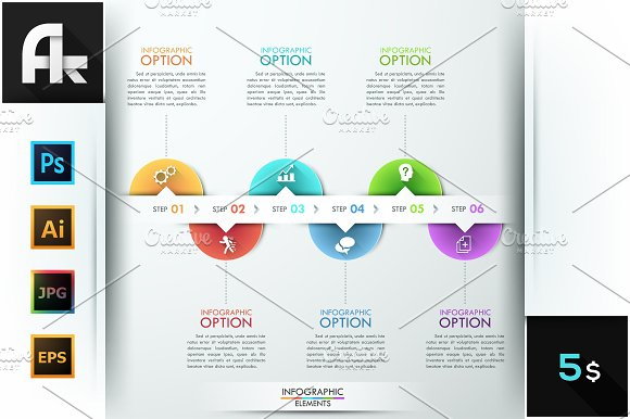 Modern Infographic Circle Timeline in Presentation Templates
