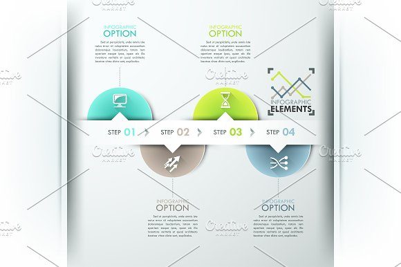 Modern Infographic Circle Timeline in Presentation Templates - product preview 1