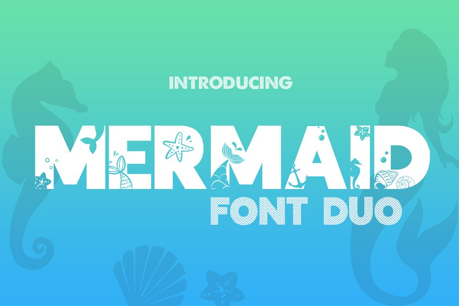 Mermaid Font Duo in Display Fonts - product preview 8