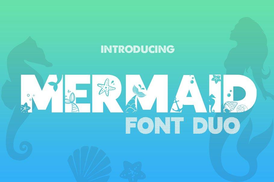 Mermaid Font Duo in Display Fonts
