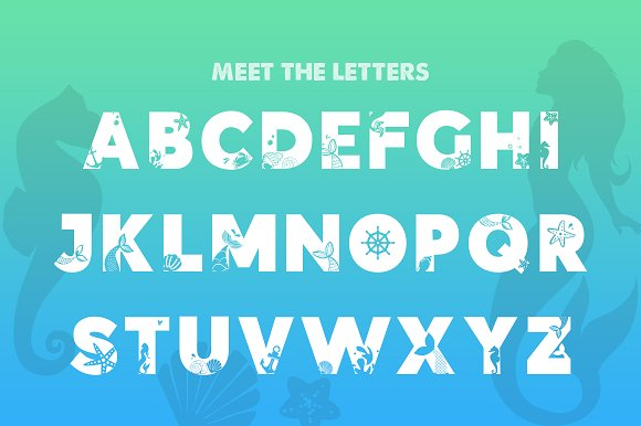 Mermaid Font Duo in Display Fonts - product preview 1
