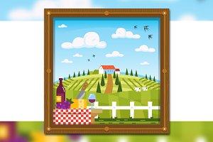 Italy Tuscany Landscape Background