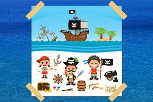 Pirate Vector Children Clip art