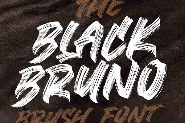BLACK BRUNO // Brush Font