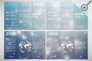 Set of brochures with snowflakes
