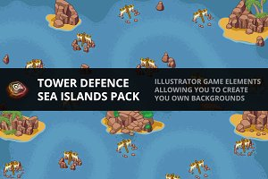 Tower Defence - Sea Island Pack 1