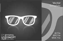 Vintage Glasses Flat Isolated Vector