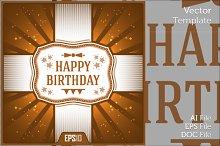 Happy Birthday Card Vector Ribbon