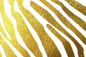 Texture of zebra skin gold