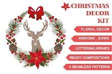 Christmas floral decor kit