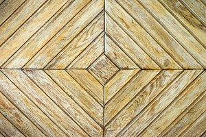 Light parquet with geometric pattern