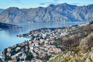 The view over the town of Kotor