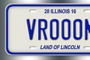 Vanity License Plate PSD Template!