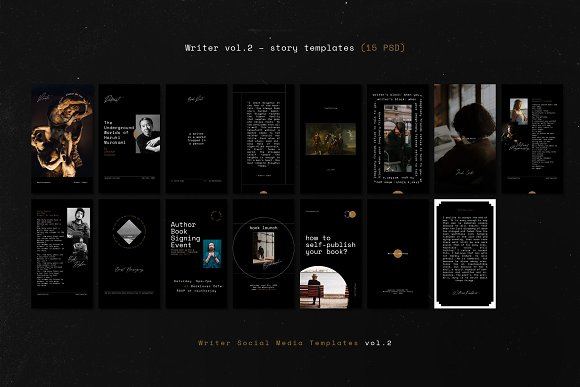 Writers Social Media Templates Vol.2 in Instagram Templates - product preview 6
