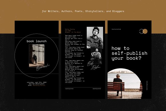 Writers Social Media Templates Vol.2 in Instagram Templates - product preview 9