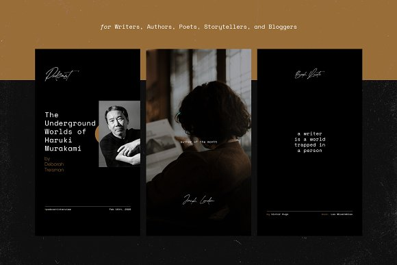 Writers Social Media Templates Vol.2 in Instagram Templates - product preview 10