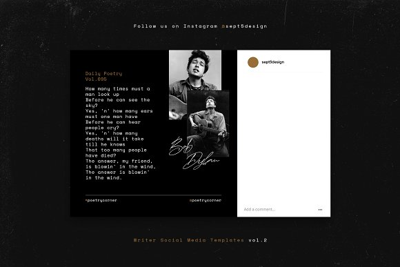 Writers Social Media Templates Vol.2 in Instagram Templates - product preview 11