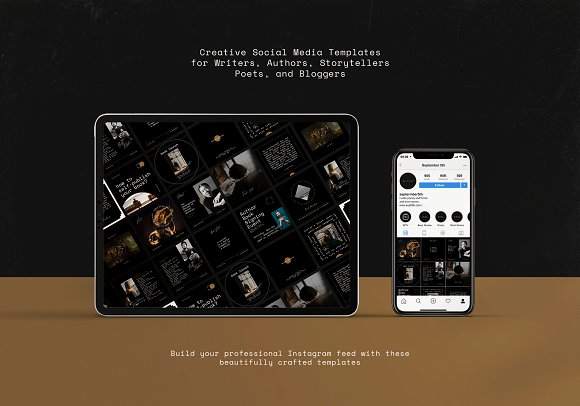 Writers Social Media Templates Vol.2 in Instagram Templates - product preview 14