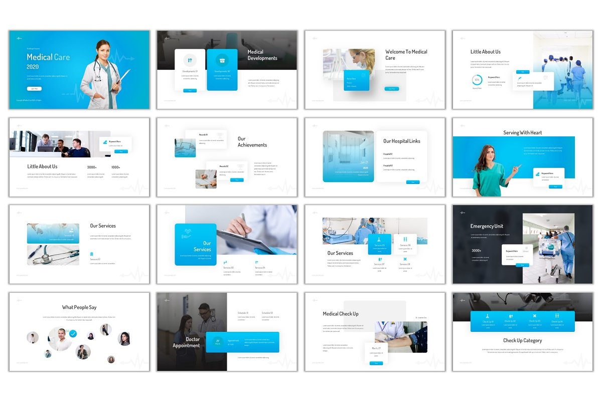 Medical Care Powerpoint in PowerPoint Templates - product preview 1
