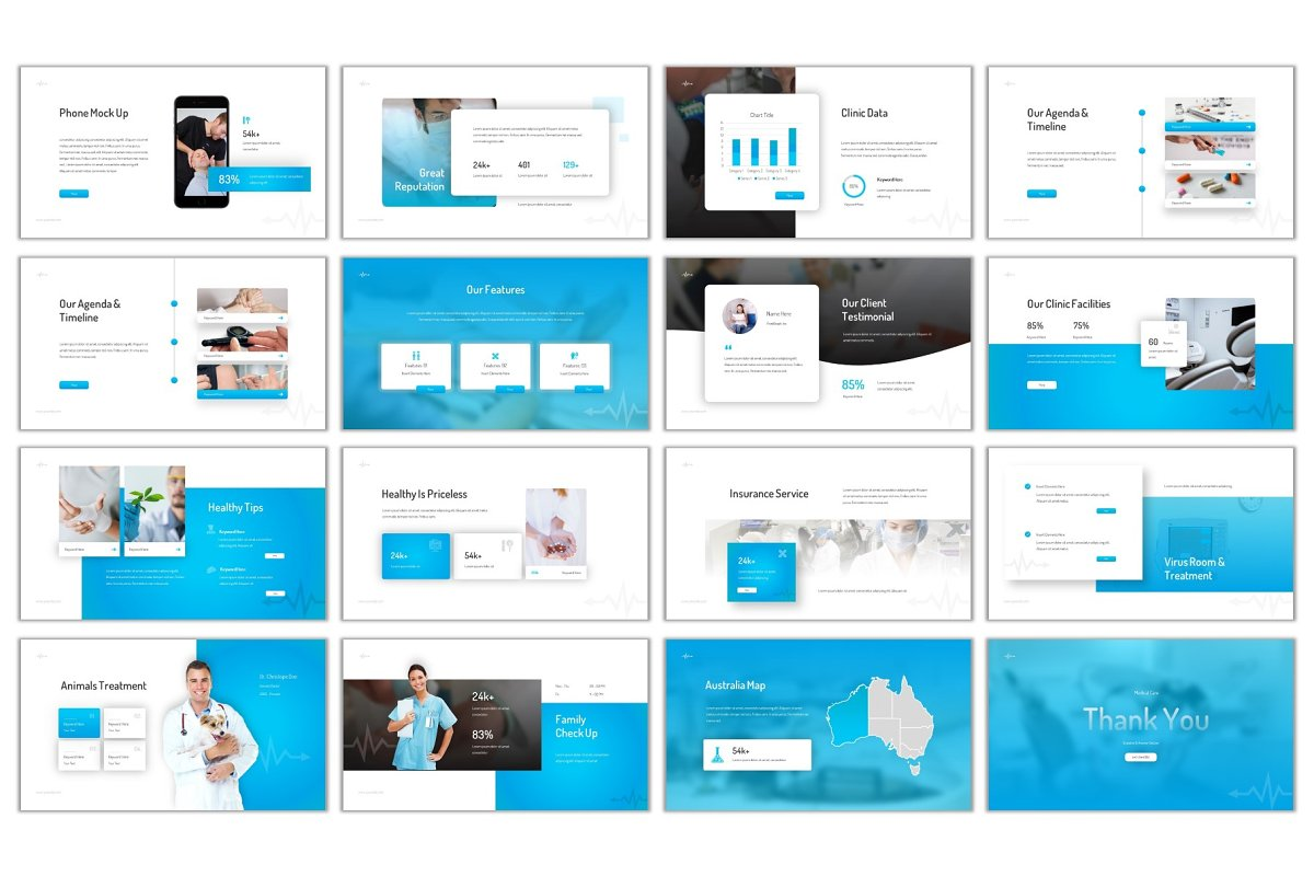 Medical Care Powerpoint in PowerPoint Templates - product preview 3