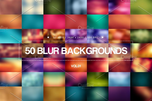 50 Blur Backgrounds _ Vol.01 - Textures