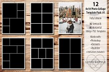 photo collage templates psd template card templates on creative market. Black Bedroom Furniture Sets. Home Design Ideas