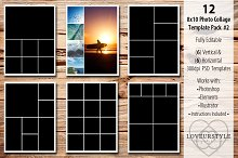 8x10 Photo Collage Template Pack 2