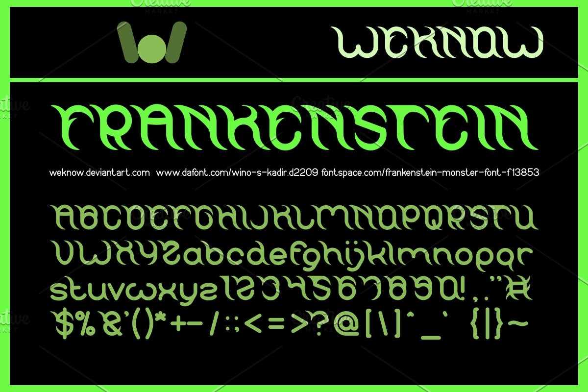 frankenstein monster font