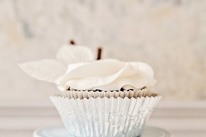 Rosy Wintry Cupcake 3