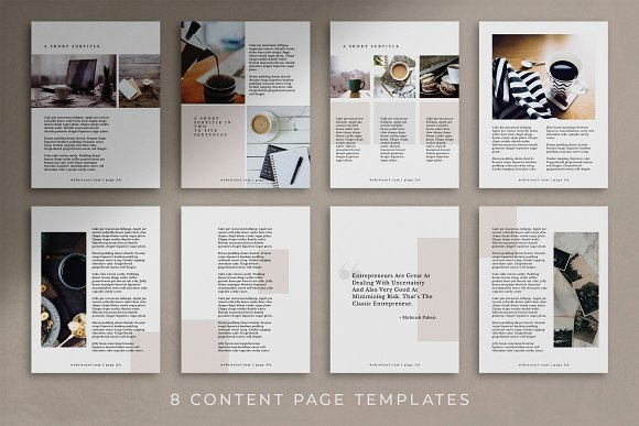 Workbook/eBook Canva Template | Mio in Magazine Templates - product preview 7