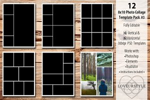 8x10 Photo Collage Template Pack 3