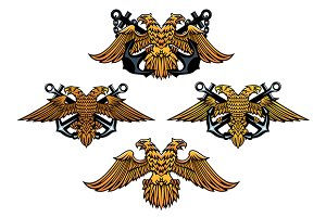 Double headed imperial nautical eagl