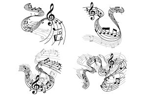 Abstract musical compositions set
