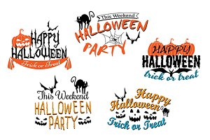 Halloween holiday party posters and