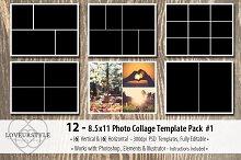 8.5x11 Photo Album Template Pack 1