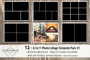 8.5x11 Photo Album Template Pack 1