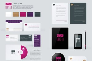 Stationery, Branding Mock-Up templat