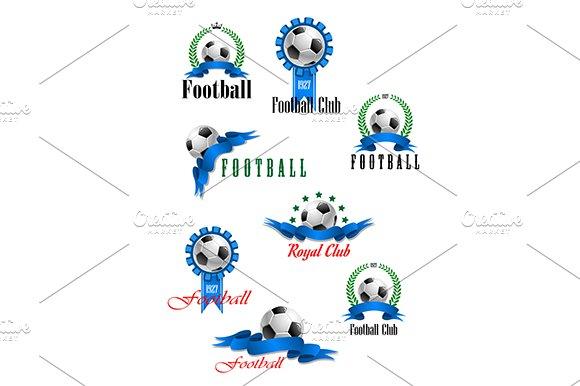 Large set of vector football emblems