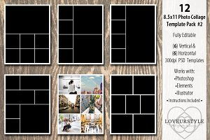 8.5x11 Photo Album Template Pack 2